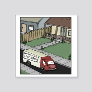 "lawn care Square Sticker 3"" x 3"""